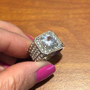 White sapphire Nikita ring